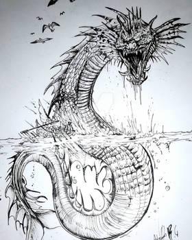 Mythological Aquatic Snake