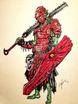 Alligator warrior