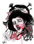 Demonic Japanese Pain Lady