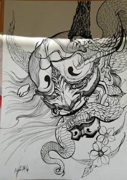 Japanese Snake Mask