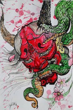 Rage of the Oni Samurai Demon