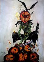 Cornfield Pumpkin - Day of the dead contest by Khov97