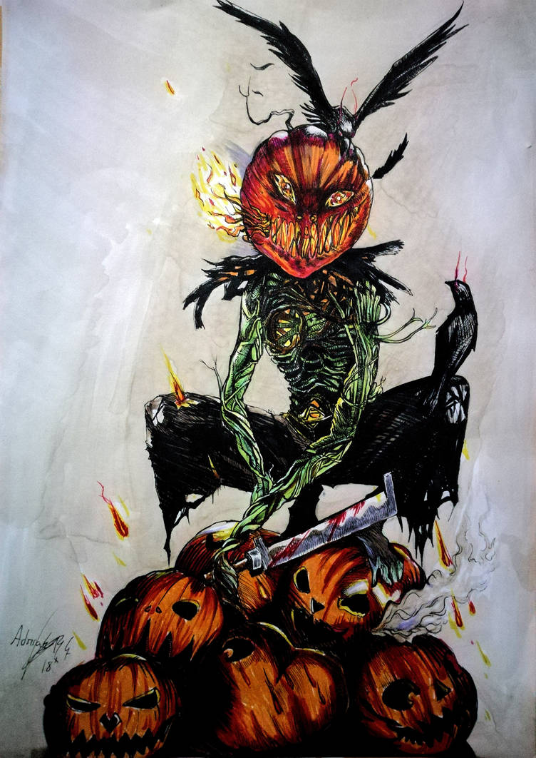 Cornfield Pumpkin - Day of the dead contest by Inkhov