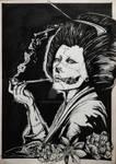 Smoker Geisha Black and White