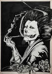 Smoker Geisha Black and White