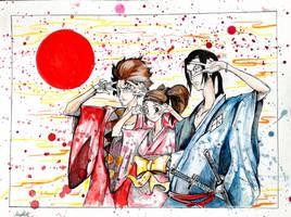 Samurai-Champloo  Gouache by Khov97