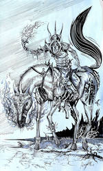 Lone Chaos Rider by Inkhov