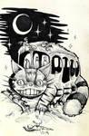 Totoro Nekobasu Catbus Darkart