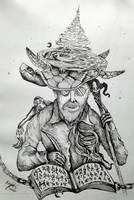 Sir Terry Pratchett by Inkhov