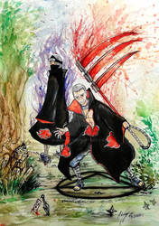 Kakuzu and Hidan the inmortal duo by Inkhov