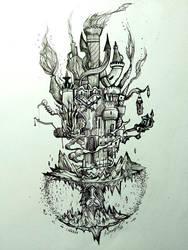 Hollow Bastion Kingdom Hearts I by Inkhov