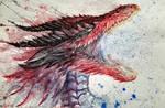 Safi'jiiva Watercolor Monster Hunter World Iceborn by Inkhov
