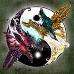Zinogre Ying Yang Monster Hunter by Inkhov by Inkhov