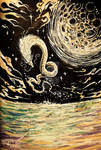 Nagaa Moon serpent Dragon by Inkhov
