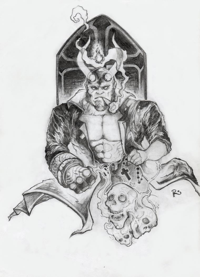 Hellboy - fanart by DoctorSaturno