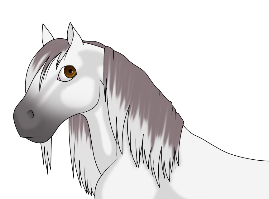 Anime cartoon horse by after the aftermath