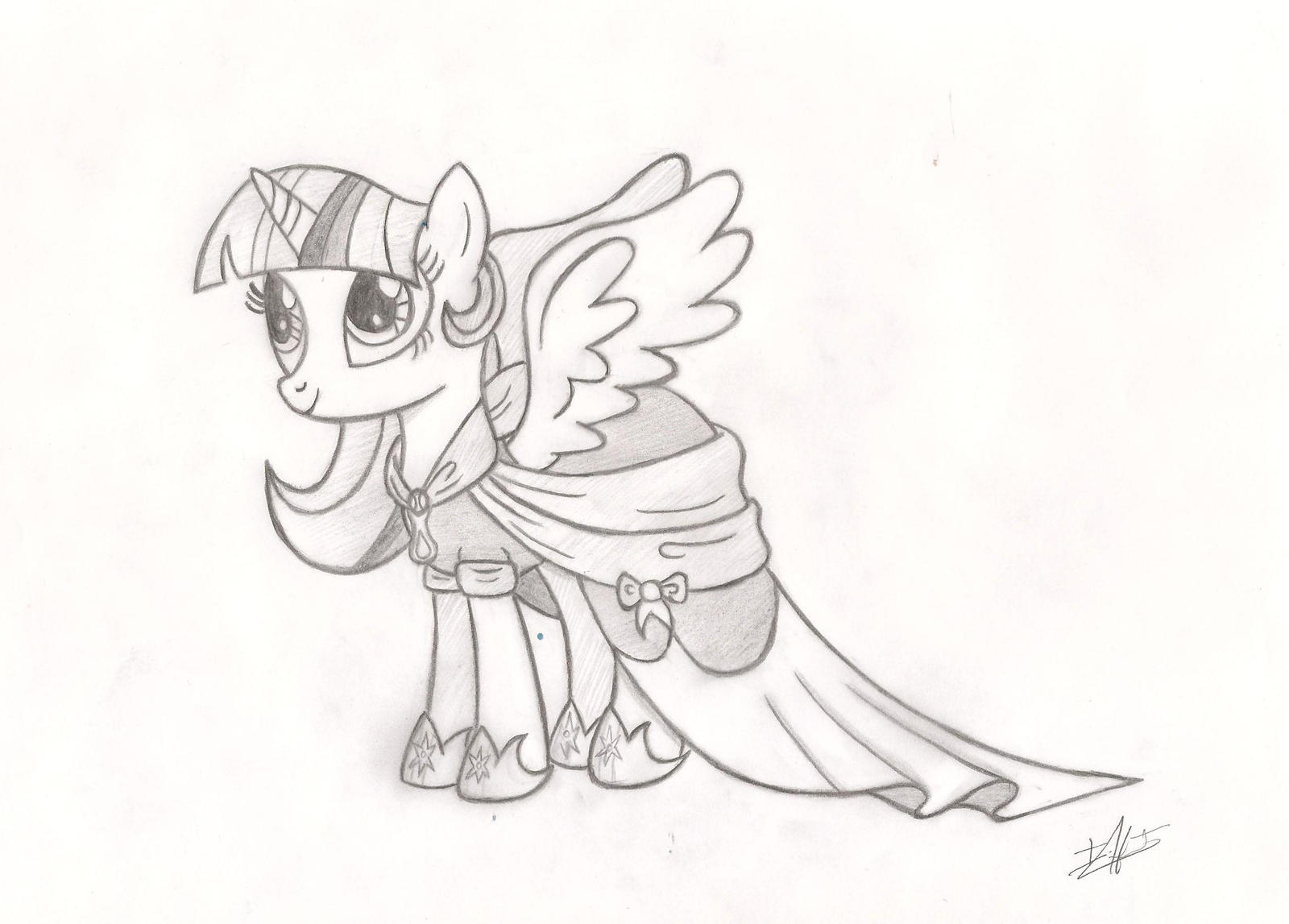 My Little Pony Coloring Pages Princess Twilight Sparkle Alicorn : Princess twilight sparkle by ulisesdarklight on deviantart