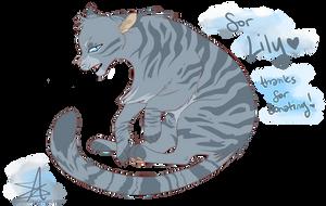 [UNICEF COMM] Jayfeather for CattyCutie by GJKou