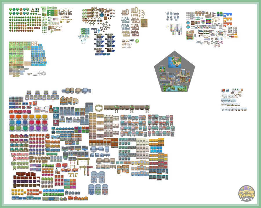 Pokemon dawn tileset 2 5 by the red ex on deviantart for Building map maker