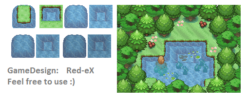GD - Tileset - Wassergebirge by The-Red-eX