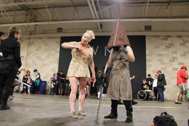 Silent Hill 2 - Bubble Head Nurse + Pyramid Head