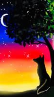 Wolf tree by LunaryartOwO