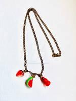 Watermelon Charm Necklace by LunaryartOwO