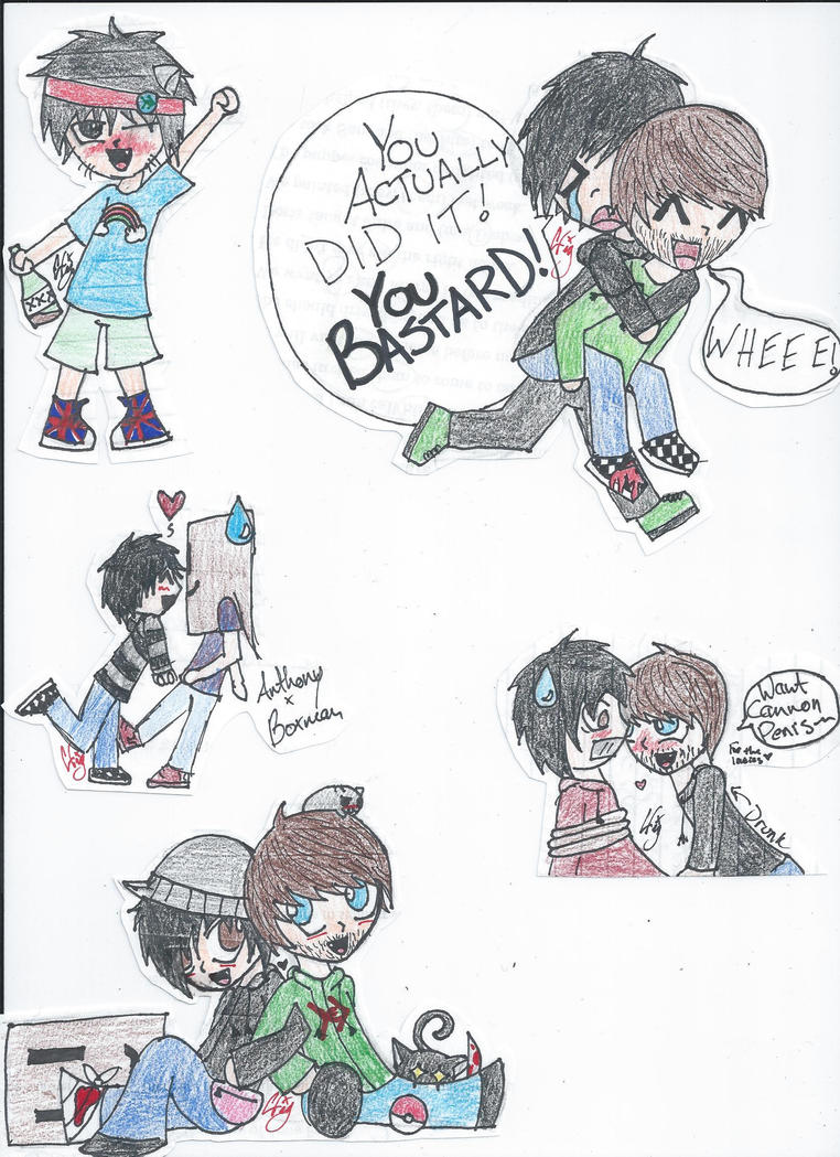 Smosh Doodles by TheRealTDAGeena