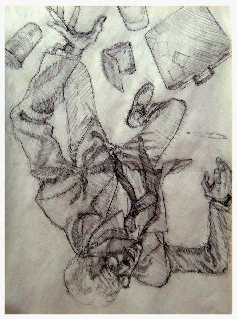 'Falling Man' by AfuChan