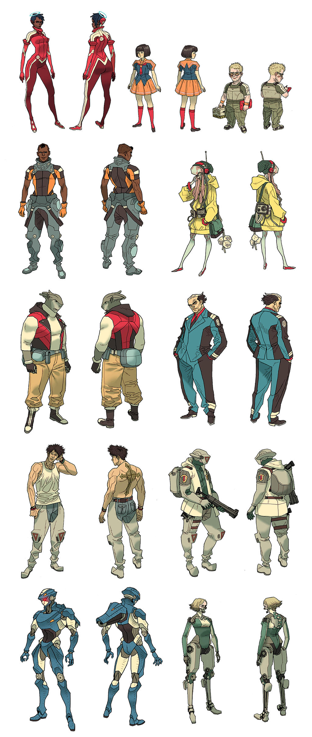 HaloGen - Character Sheets by AfuChan