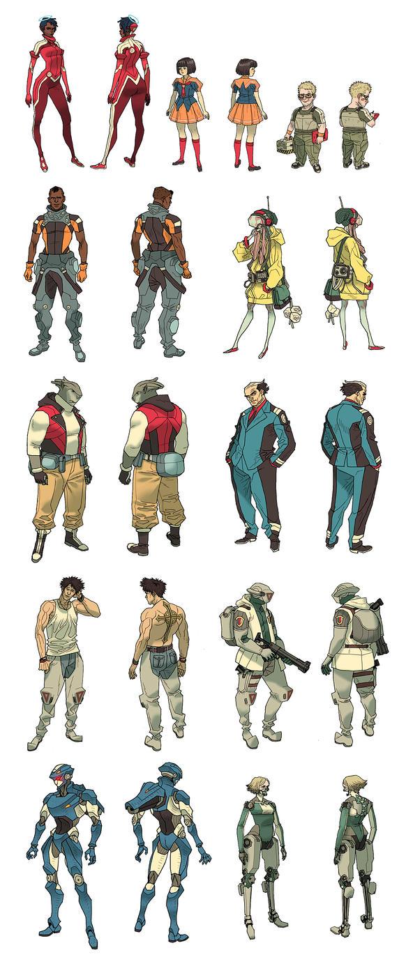 Comic Book Character Design Sheet : Halogen character sheets by afuchan on deviantart