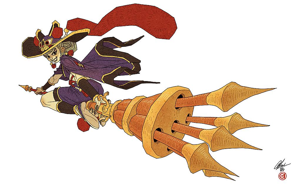 Witch Warrior - Yin Lin by AfuChan