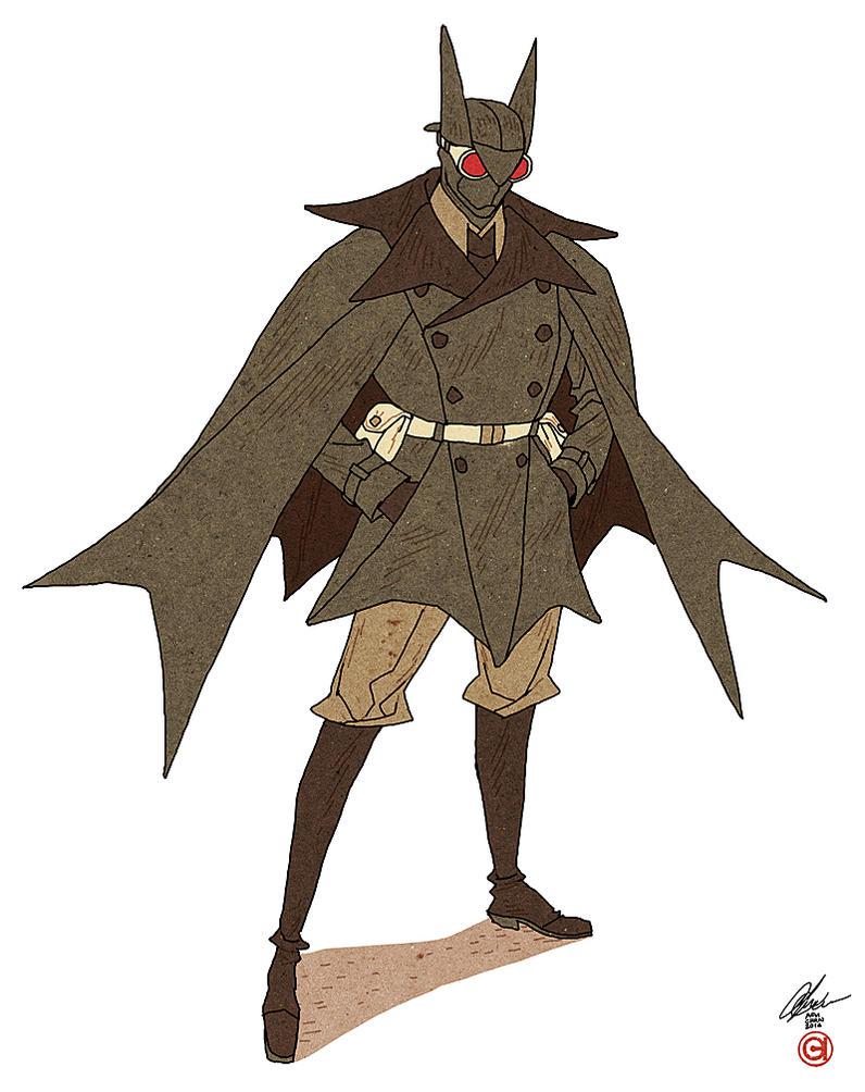 Detective Bat by AfuChan
