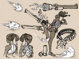 Peg Leg Bessie Concept Sketch by AfuChan