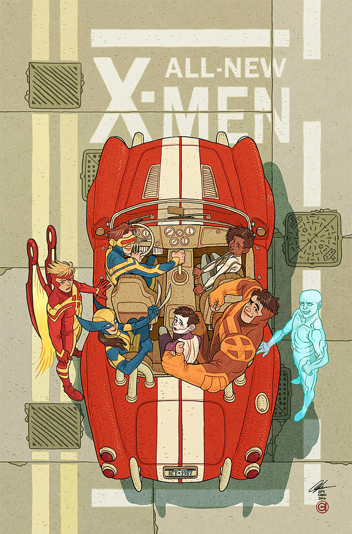 All New X-Men Variant Cover by AfuChan