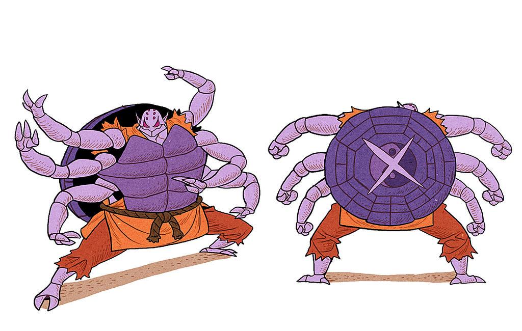 Spider Turtle Demon by AfuChan
