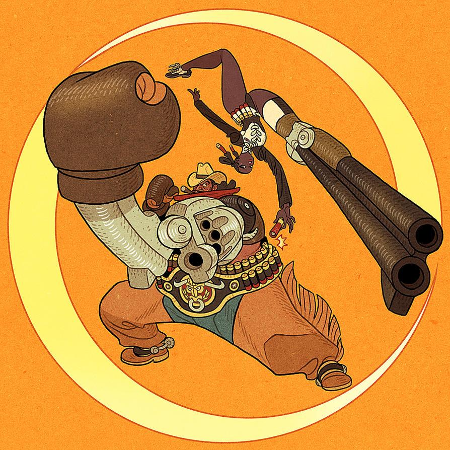 Gun Arm vs Gun Leg by AfuChan