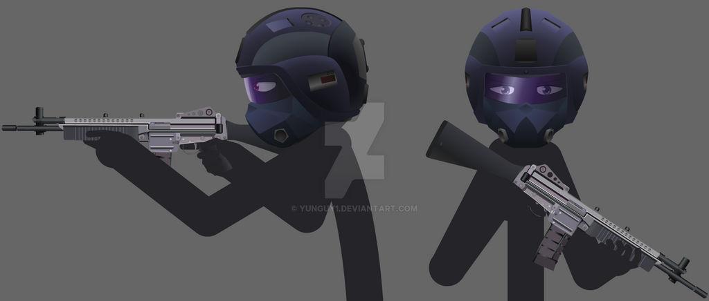 Umbrella Corp Combat Helmet Concept