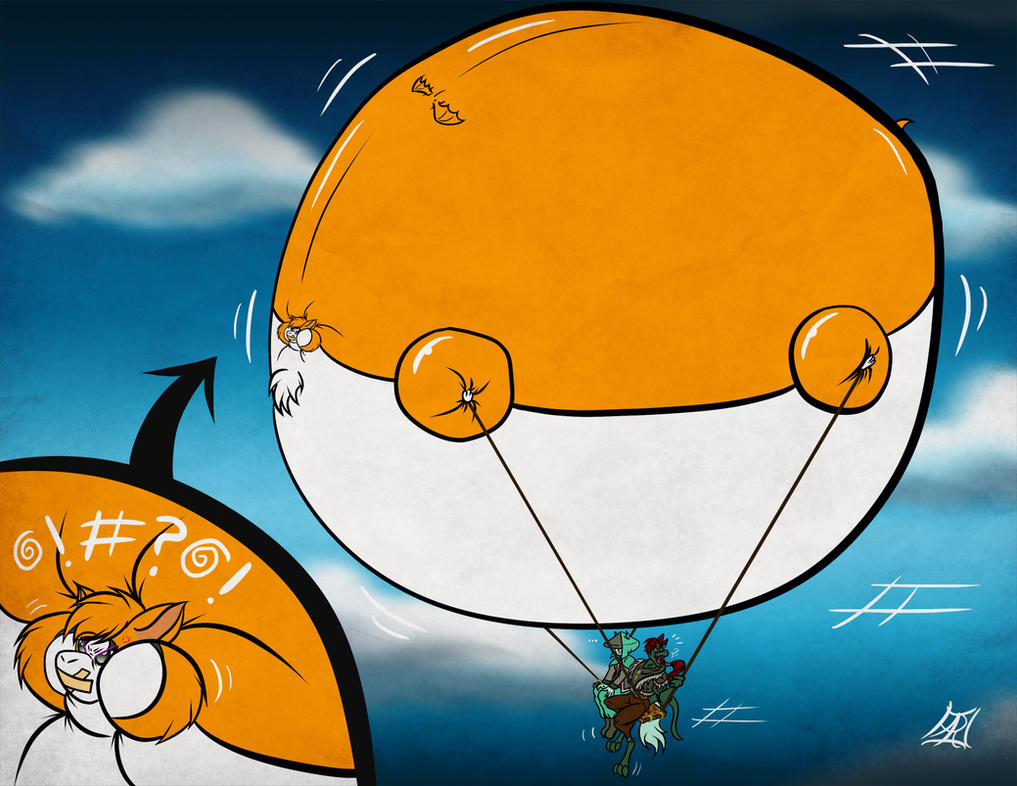 Flying with the Fidget blimp by commanderhavoc
