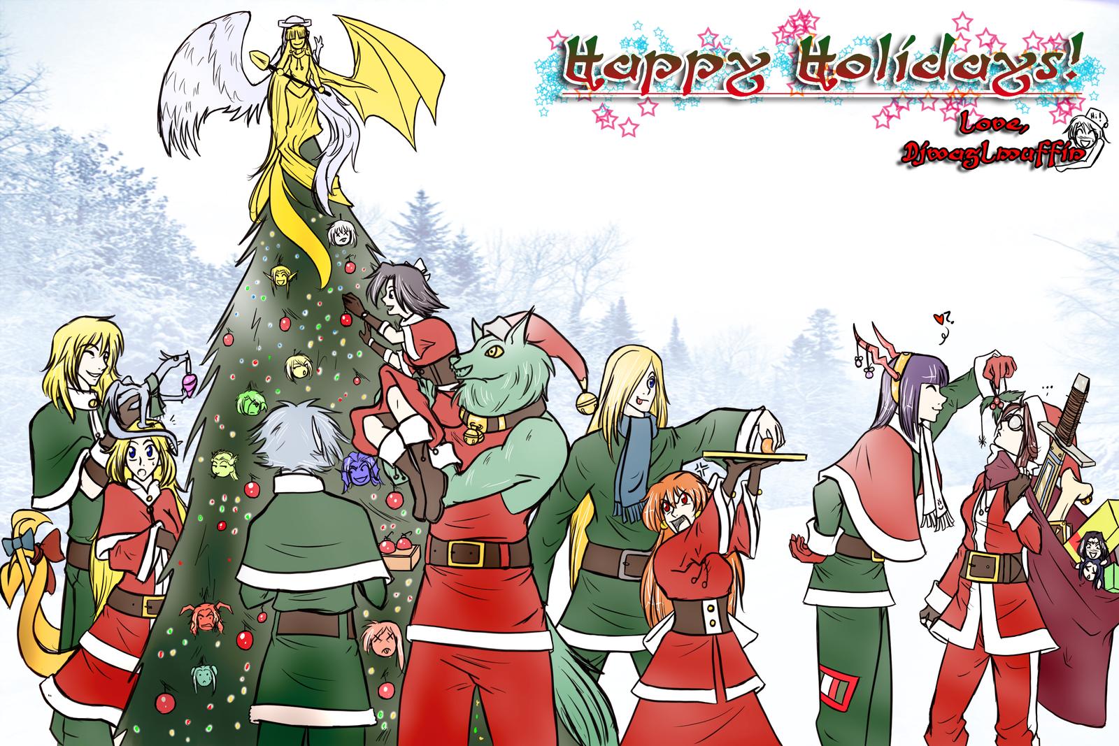 Happy Holidays by djwagLmuffin