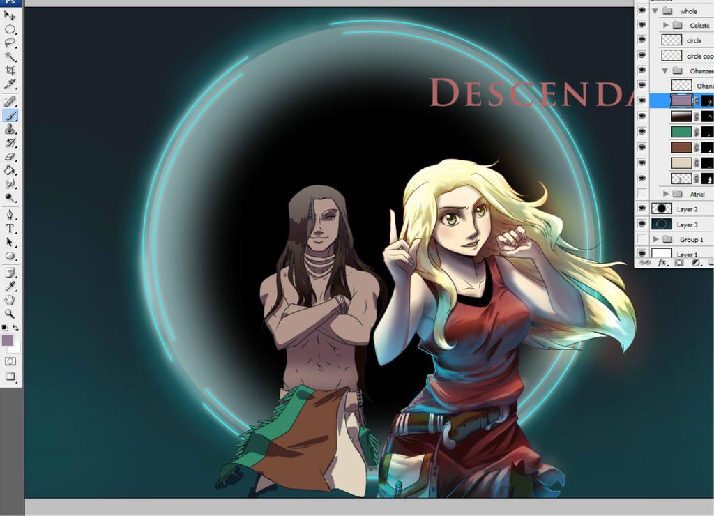 Descendant Promo Illustration WIP by djwagLmuffin