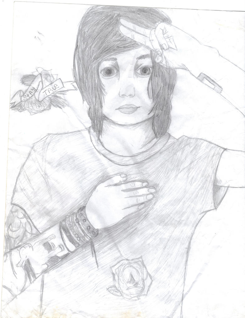 kellin quinn portrait based off of i draw bands by bands