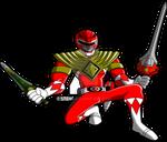 Power Rangers Animated: Red Ranger (Armored) 2015
