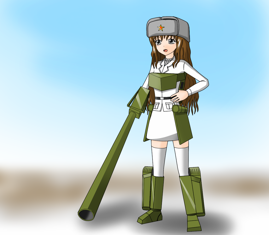 USSR:2S4 self-propelled gun by redcomic