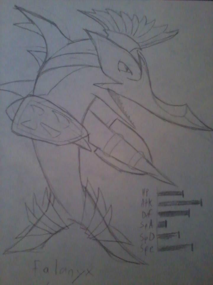 Fakemon Falanyx by JashinsAngel