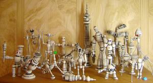 Retro Robot Collection White by buildersstudio