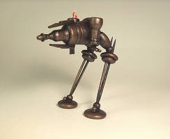 Steampunk Ray Gun Walker WOOD by buildersstudio