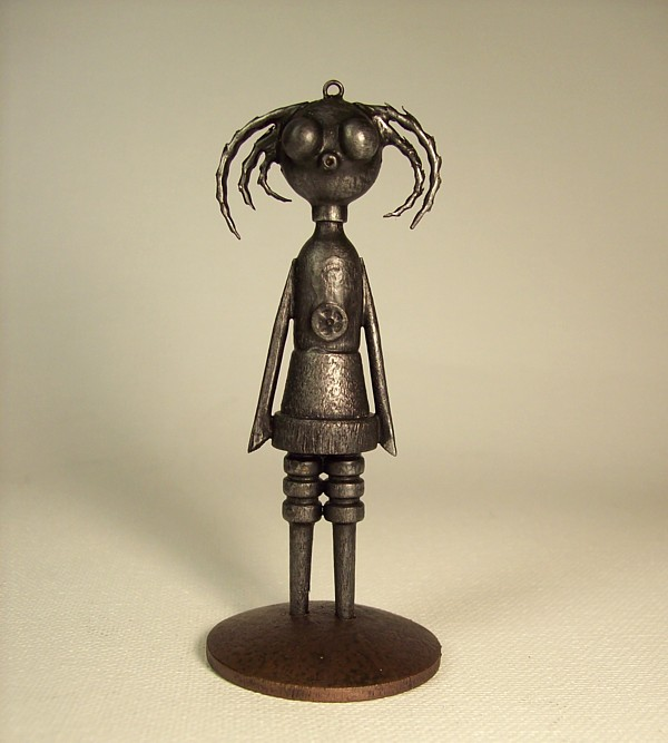 Goth Robot Girl Chick Pendant by buildersstudio
