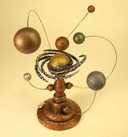 Orrery Spiral Star System Wood