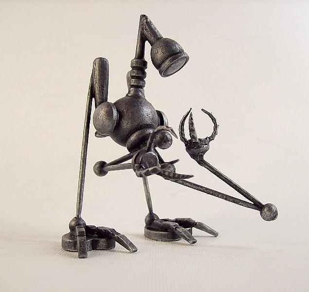 The Seeker Robot Wood Statue by buildersstudio